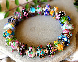 murano glass beads bracelet images Glass bead bracelet etsy jpg