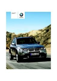 bmw x3 2006 manual 2007 bmw x3 3 0si owner s manual pdf 136 pages