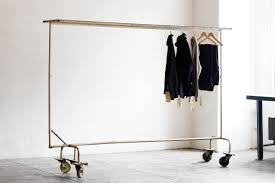 Decorative Metal Garment Floor Rack by Sold Large Vintage Industrial Garment Rack Circa 1950s Rehab