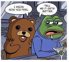 Comic Meme - pepe behind the meme by jon rosenberg
