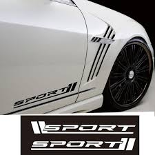 mercedes decal aliexpress com buy black reflective white amg sport side