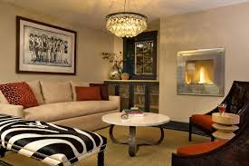 Ochre Lighting Ochre Lighting For A Contemporary Living Room With A Fireplace And