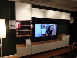 ikea besta media storage modern room with ikea tv cabinet plywood materials media cabinet