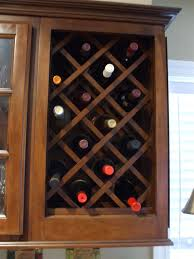 how to make a wine rack in a cabinet home design ideas