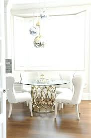 dining table gorgeous dining room features staggered brass glass