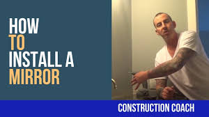 how to install a mirror diy bathrooms youtube