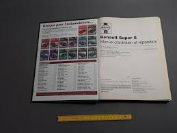 renault super 5 antique manual u0027maintenance and repair renault super 5 express old