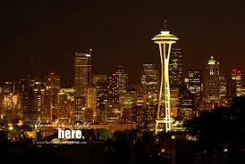 seattle city light seattle wa seattle space needle and city skyline at night my home town