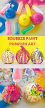 squeeze paint pumpkin art fun and easy no carve pumpkin idea for