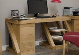 Z Oak Console Table Z Oak Designer Console Table With Central Drawers Furniture4yourhome