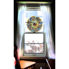 decorations the stained glass window film on galley kitchen with