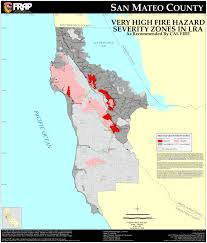 Colorado Wildfire Risk Map by Cal Fire San Mateo County Fhsz Map