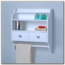 Bathroom Wall Cabinet With Towel Bar Wall Mounted Bathroom Shelves 69 Unique Decoration And Wall Mount