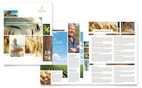 farming u0026 agriculture brochure template design