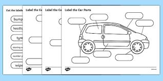 label the car parts car cars parts of the car label