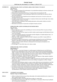 sle of resume employee relations advisor resume sles velvet