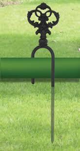 Wrought Iron Garden Decor Garden Hose Stakes Soaker Hose Holder Apex Hose Garden Hose Stand