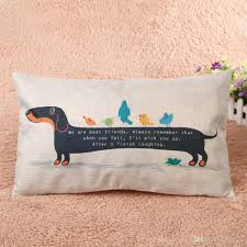 Patio Furniture Cushion Covers - 30x50cm dachshund dog cushion cover sausage dog puppy pillow case