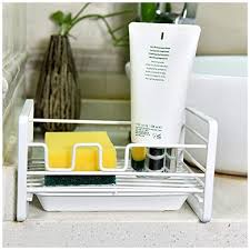 kitchen sink cabinet sponge holder fanxina sponge holder sink caddy organizer kitchen sink organizer sink tray soap holder stainless steel for kitchen