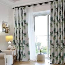 long living room curtains green floral print polyester insulated country long bedroom or