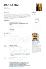 assistant principal resume samples visualcv resume samples database