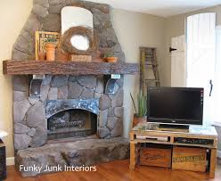 simple design clean rock fireplace cover rock fireplace cover