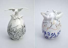 ceramic easter eggs beautiful ceramic easter eggs by juliette clovis fubiz media