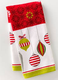 christmas towels kohl s christmas towels for 1 92 and placemats for 2 24