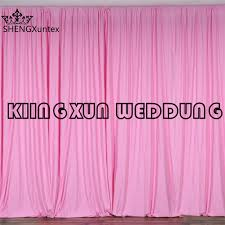 wedding backdrop curtains for sale hot sale pink color 100 polyester panel wedding backdrop curtain