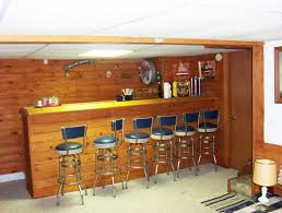interior simple bar designs for home basements mixed with wooden