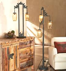 cabin style lodge style floor lamps with rustic lamp foter and 8 cabin on