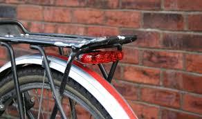rear bike light rack mount pannier rack light mount cosmecol