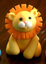 lion cake topper for birthday or baby shower fondant cake