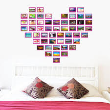 heart design photo frame family forever memory wall decals 8521 see larger image