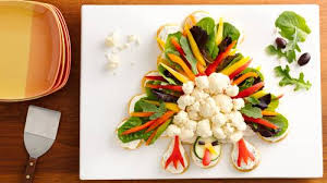 crescent turkey shaped veggie platter recipe pillsbury