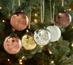 tone mercury glass ornaments set of 6 pottery barn