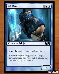 7 magic cards based on mortal kombat characters dorkly post