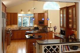 light cherry kitchen cabinets interior design