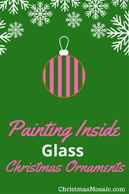 painting inside glass ornaments mosaic