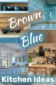 best wall paint color for brown kitchen cabinets brown and blue kitchen ideas home decor bliss