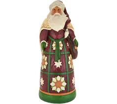 jim shore heartwood creek oversized santa with satchel statue