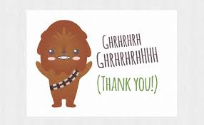 wars congratulations card thank you wars printable card with chewbacca thank you