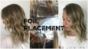 where to place foils in hair foil placement money pieces and root smudging youtube