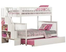 twin over twin bunk beds with stairs white home design ideas