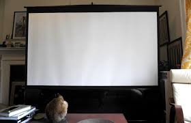 How To Hang A Projector Screen From A Drop Ceiling by How I Fit A 100 Inch Projector Setup In My Nyc Apartment
