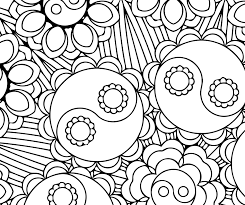 yin yang bouquet candyhippie coloring pages