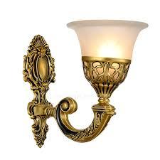 one light golden fixture antique art deco wall sconces