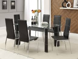 70200 chicago black dining 7pc set universal industries