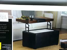 storage ottoman coffee table living square ottoman coffee table