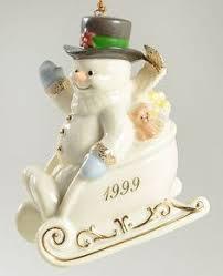 lenox annual snowman ornament a chilly 2005 no box